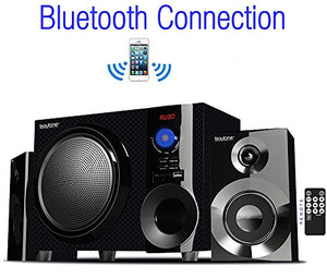 Boytone BT-210FD, Ultra Wireless Bluetooth Main unit, Powerful Sound with Powerful Bass System 30 watt, Excellent Quality Clear Sound & FM radio, with Remote Control Aux Port, SB/SD/ for Smartphone's