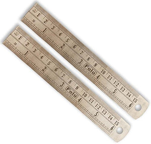 ToolUSA Steel Ruler In Sae And Metric With Conversion Table On Back: TM-07281-Z02 : (Pack of 2 Rulers)