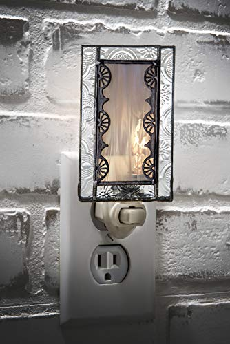 Decorative Night Light Grey Accent Lite Wall Plug In Nightlight For Hallway Bedroom Bathroom Nursery