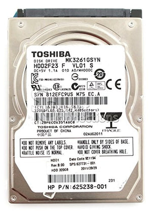 HP 2,5 inch internal 320GB hard drive part number 625238-001