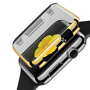 Happy Hours - Ultra Thin PC Plated Hard Protective Case for Apple Watch/Fashion Premium Lightweight Apple Watch Accessories Plating Bumper Cover(38mm, Gold)