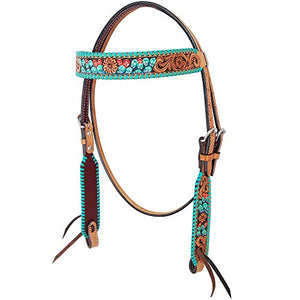 Rafter T Ranch Co Painted Cactus Browband