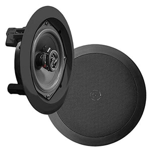 Pyle Ceiling Wall Mount Speakers   5.25� Pair Of 2 Way Midbass Woofer Speaker 1'' Polymer Dome Twe