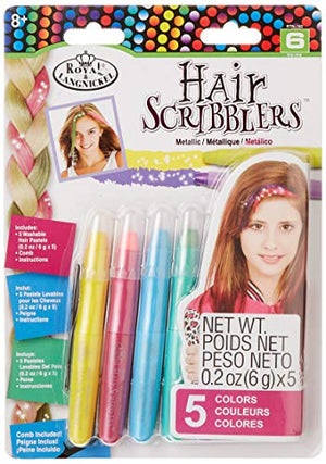 Royal RTN-162 Hair Scribblers 1 Comb 5pc