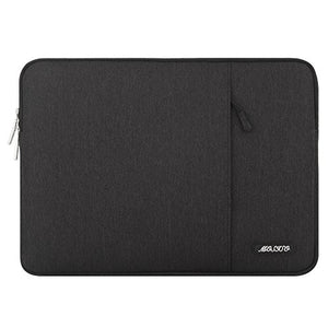 MOSISO Laptop Sleeve Compatible with 2019 MacBook Pro 16 inch with Touch Bar A2141, 15-15.4 inch MacBook Pro Retina 2012-2015, Notebook, Polyester Vertical Bag with Pocket, Black