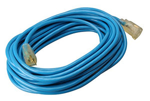 Southwire 02568 50-Foot 12/3 Cold Weather Extension Cord, Blue
