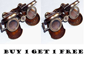 shaheera.nautical SHAHEERA NAUTICAL ANTIQUE BRASS BINOCULAR MARITIME VINTAGE GIFT FORDABLE BINOCULARS TELESCOPE BUY 1 GET 1 FREE
