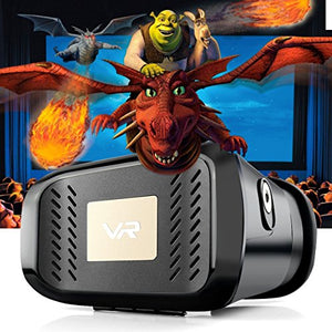 FLYK 3D VR Virtual Reality Headset,vr Box,VR Glasses,3D Video Movie Glasses for 3.5~6.0