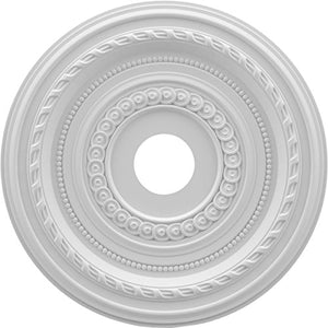 Ekena Millwork CMP19CO Cole Thermoformed PVC Ceiling Medallion, 19