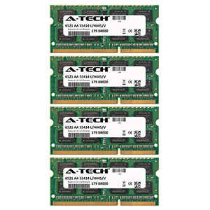 16GB KIT (4 x 4GB) for Dell XPS Notebook Series 17 17 (L701X) 4 Slots 17 (L702X) 3D 17 3D L702X L702X (4 Slots). SO-DIMM DDR3 Non-ECC PC3-10600 1333MHz RAM Memory. Genuine A-Tech Brand.