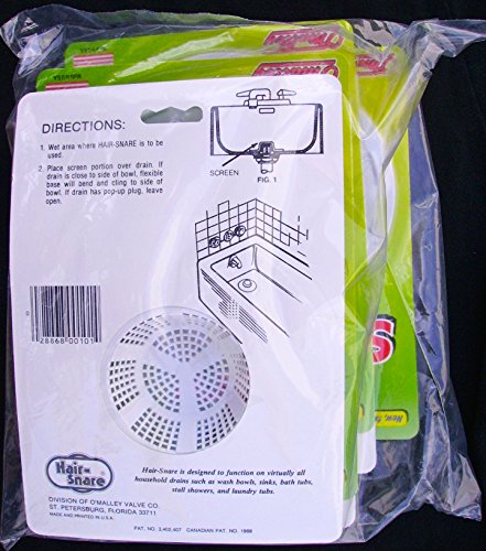 Hair Snare Drain Cover Universal - White (6-Pack)