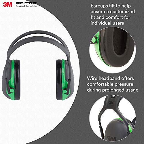 3 M Peltor X1 A Over The Head Ear Muffs, Noise Protection, Nrr 22 D B, Construction, Manufacturing, Mai