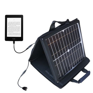 Gomadic SunVolt Powerful and Portable Solar Charger Suitable for The Amazon Kindle Paperwhite - Incredible Charge speeds for up to Two Devices