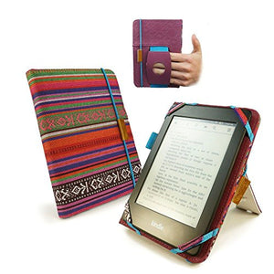 TUFF LUV Embrace Plus Material Case Cover for Kindle Touch/Paperwhite (Sleep Function) / Kobo Touch - Navajo