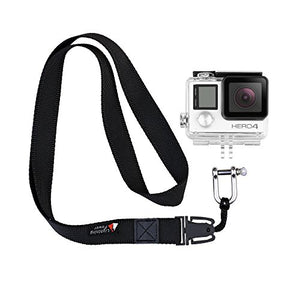 Detachable Lanyard with Stainless Steel Shackle for GoPro Mount Adapter