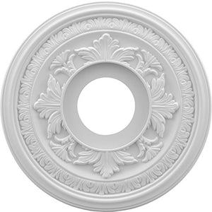 Ekena Millwork CMP13BA Baltimore Thermoformed PVC Ceiling Medallion, 13