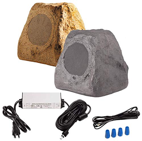 "OSD Audio 5.25"" 120W Bluetooth Outdoor Rock Speaker - Weather Resistant, Sandstone Canyon Brown - BTR-150"