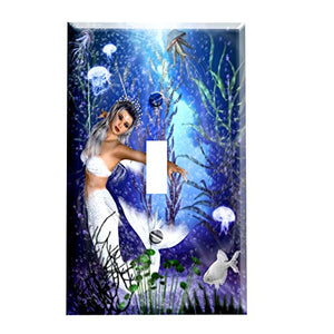 Mermaid Jellyfish Reef Switchplate - Switch Plate Cover