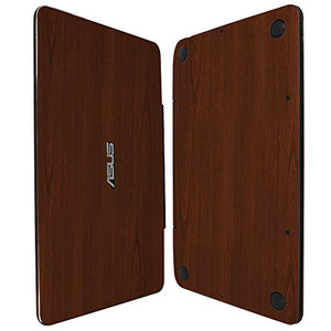 Skinomi Dark Wood Full Body Skin Compatible with Asus Transformer Book T300 Chi 12.5 (Tablet and Keyboard)(Full Coverage) TechSkin with Anti-Bubble Clear Film Screen Protector