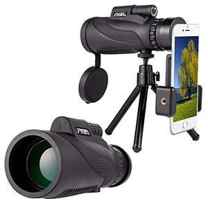 Mobile Phone Telescope,Monocular Telescope,Zoom Camera Lens Low Night Vision 12X50 BAK4 Prism & FMC, Telephoto Hunting Accessory for Fishing Travelling Bird Watching Duck Hunting by Longiko