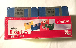 imation 50 ct Rainbow Diskettes IBM 2HD 1.44MB (Discontinued)