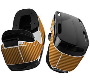 Skinomi Gold Carbon Fiber Full Body Skin Compatible With Samsung Gear Vr (Full Coverage) Tech Skin Wi