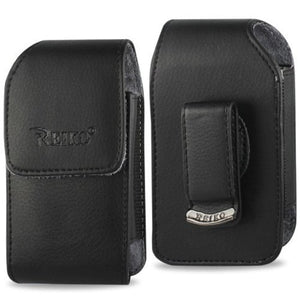 Vertical Leather Case With Magnetic Closure With Belt Clip For Kyocera Dura Xe.
