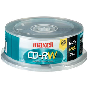 MAXELL 630026 700MB 80-Minute CD-RWs (25-ct Spindle) electronic consumer