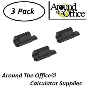 Around The Office Compatible Package of 3 Individually Sealed Ink Rolls Replacement for Triumph/Adler EZ-Vue-6800-HD Calculator