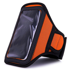 Van Goddy Athlete's Choice Workout Armband For Blu Amour Smartphone, Orange