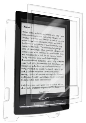 IQ Shield Full Body Skin Compatible with Sony Reader PRS-T1 (WiFi) + LiQuidSkin Clear (Full Coverage) Screen Protector HD and Anti-Bubble Film