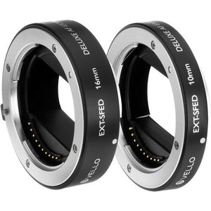 Vello EXT-SFED Deluxe Auto Focus Extension Tube Set for Sony E-Mount Lenses