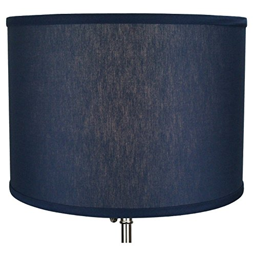 "FenchelShades.com 14"" Top Diameter x 14"" Bottom Diameter 10"" Height Cylinder Drum Lampshade USA Made (Navy Blue)"