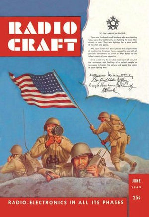Radio Craft: American Soldiers Stake the Flag 12x18 Giclee On Canvas
