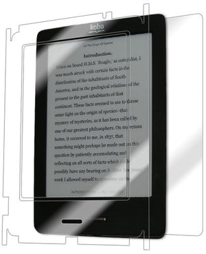 IQ Shield Full Body Skin Compatible with Kobo eReader Touch + LiQuidSkin Clear (Full Coverage) Screen Protector HD and Anti-Bubble Film