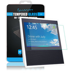 LUVVITT Tempered Glass Screen Protector for Amazon Echo Show with Alexa - Clear