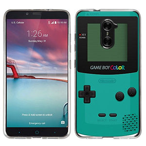 Zte Zmax Pro Case   [Gameboy Color Teal] (Crystal Clear) Palette Shield Soft Flexible Tpu Gel Skin Ph
