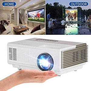 Projector, Upgraded Mini Video Projector 1500 Lumens, Full HD LED Projector 1080P Supported, for HDMI USB VGA AV, Home Theater, TV, Laptop, Gaming, Smartphones