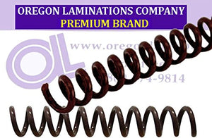 Spiral Binding Coils 7mm (9/32 x 36-inch) 4:1 [pk of 100] Chocolate Brown (PMS 438 C)