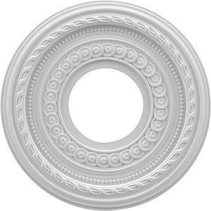 Ekena Millwork CMP10CO Cole Thermoformed PVC Ceiling Medallion, 10