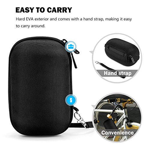 Ultimate Ears WONDERBOOM/WONDERBOOM 2 Wireless Speaker Carrying Case, ProCase Travel Bag Hard Protective Coverwith Space for Wall Charger and USB Cable -Black