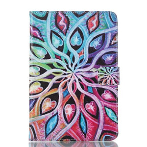 Amazon Fire 7 2015 Case,Colorful Pattern Slim PU Leather Stand Case [Card Holder] Flip Folio Wallet Protective Cover for Kindle Fire 7 inch