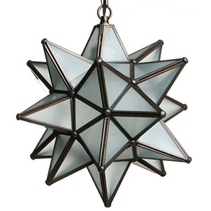 Glass Star Pendant Lights (12 Inch, White)
