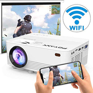 WiFi Projector, POYANK 6000Lumens WiFi Projector, Full HD 1080P Supported Mini Projector, Compatible with TV Stick/Phones/Tablet/PS4/TV Box/HDMI/USB/AV Projector for Outdoor Movies [2021 Upgrade]