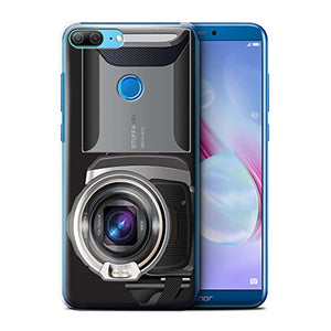 Phone Case for Huawei Honor 9 Lite Camera Video Camcorder Design Transparent Clear Ultra Slim Thin Hard Back Cover