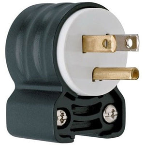 Legrand - Pass & Seymour PS5266SSANCCV4 Straight Blade Angled Plug 3-watt 15-Amp 125-volt, Heavy Duty Construction Great for Many Heavy Duty Applications