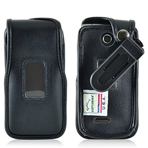 Turtleback Fitted Case Made for LG Exalt 2 II VN370 Flip Phone Black Leather Rotating Removable Belt Clip Made in USA