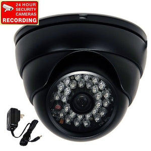 VideoSecu Dome Security Camera 480TVL Day Night Vision Outdoor Weatherproof Built-in 1/3