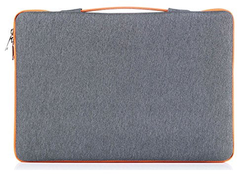 "ProCase 14-15.6 Inch Laptop Sleeve Case Protective Bag, Ultrabook Notebook Carrying Case Handbag for 14"" 15"" Samsung Sony Asus Acer Lenovo Dell HP Toshiba Chromebook Computers -Dark Grey"
