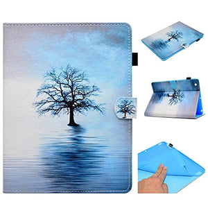 iPad 2/3/4 Case,Colorful PU Leather Wake/Sleep Folio Smart Cover Stand Wallet Case for iPad 2/3/4 (iPad 2/3/4, Water tree)